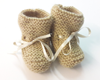 Chaussons tricot beige