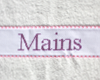 "Serviette ""Mains"" Rose - Violet"