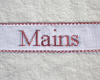 "Serviette ""Mains"" Rouge"