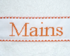 "Serviette ""Mains"" Orange"