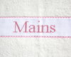 "Serviette ""Mains"" Rose clair"