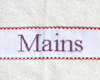 "Serviette ""Mains"" Rouge - Violet"