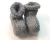 Chaussons tricot gris