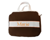 Grande trousse de toilette Chocolat - Orange